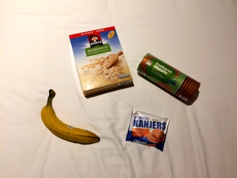 Amsterdam biscuits and banana