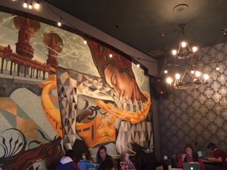 Inside lounge mural