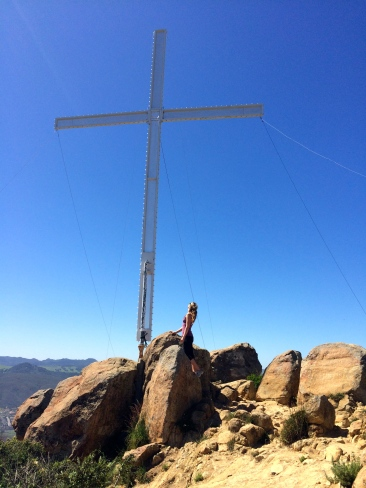 Me to scale with the cross